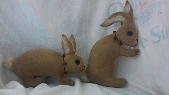 Primitive Bunny pattern in 2 styles sewing by oldbagdesigns