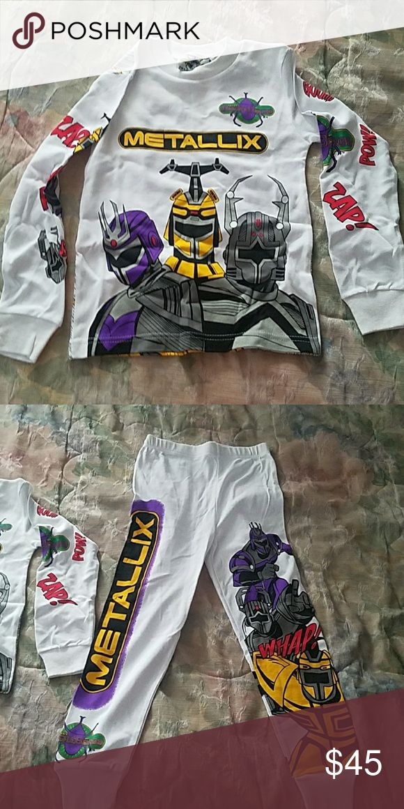 Boys pajamas set Brand new never worn  from Saban's Beetleborgs Size medium  (8-10) Saban Pajamas Pajama Sets