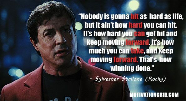 Sylvester Stallone, Quote, Rocky, Inspirational Movie Quotes