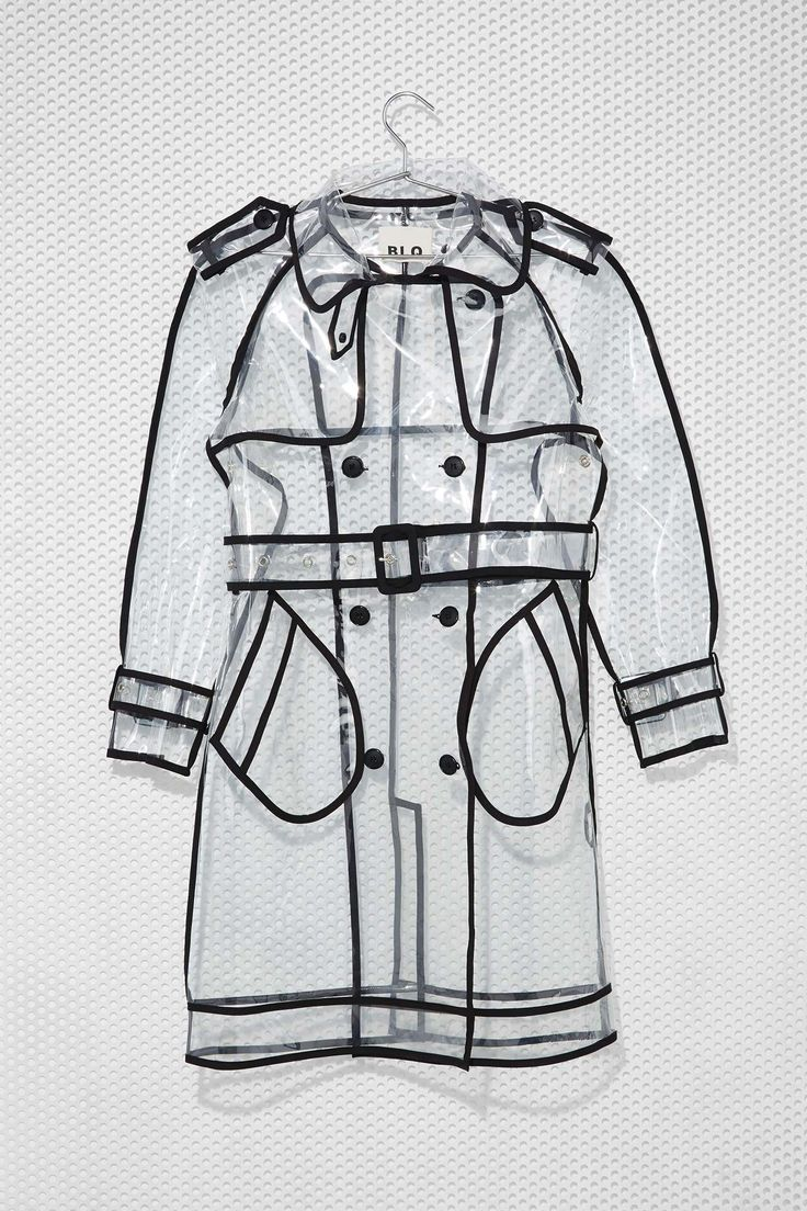 Love the style lines on this one. Clear Trench Coat