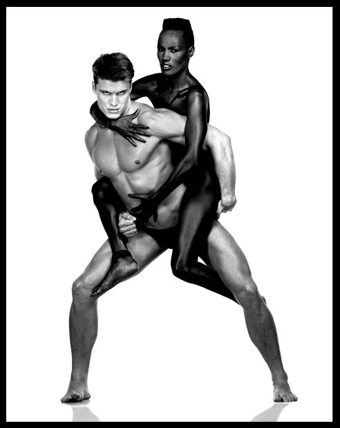 Grace Jones et Dolph Lundgren