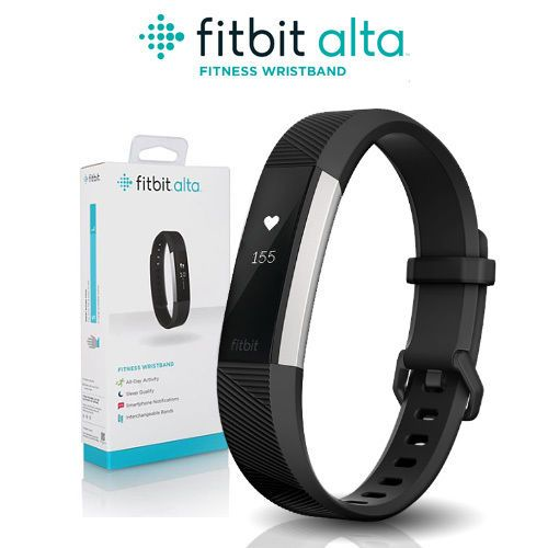 Fitbit Alta Fitness Wristband activity tracker color black size large, this one like the most, because of it unique style, this design, you hardly can tell its on your wrist