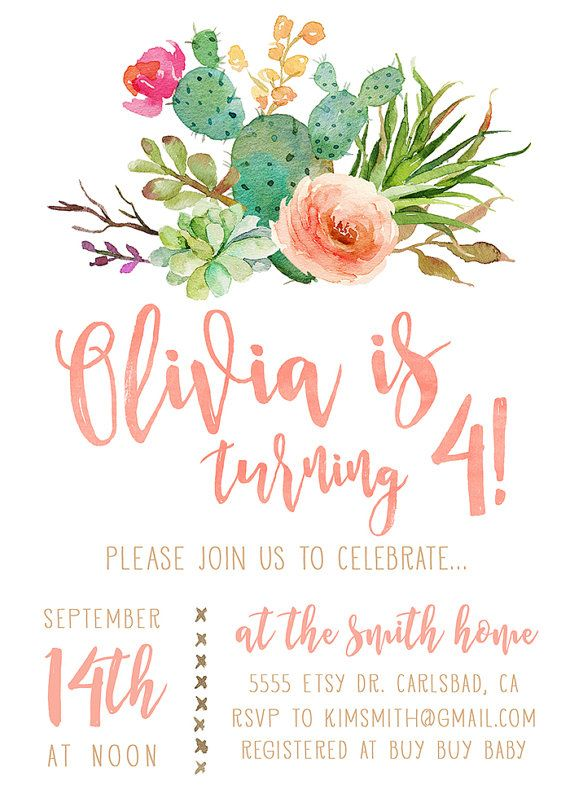 Best 25 Girl birthday invitations ideas – Girls Birthday Party Invites
