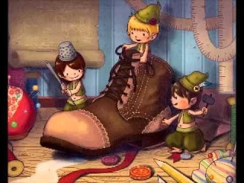 Les lutins et le cordonnier, Livre audio pour les enfants - YouTube