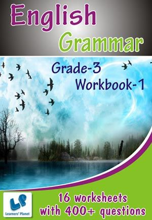 GRADE-3-ENGLISH-GRAMMAR-WORKBOOK-1 This workbook contains printable worksheets on English - Grammar (Vowels, Correct Capitalization, Homophones, Singular-Plural, Use of has, have, had, was, were, is, are, Point out Nouns) for Grade-3 students.  There are total 16 worksheets with 400+ questions.   Pattern of questions : Multiple Choice Questions…    PRICE :- RS.149.00