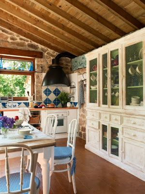 rustic+chic+vintage+living+-+stone+walls+-+pareti+in+pietra+e+travi+legno+a+vista+cucina+2.jpg (300×400)
