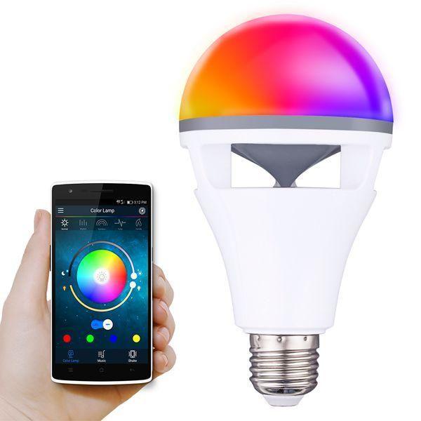 E27 5w Rgbww Colorful Led Bluetooth Speaker Smart Globe Light Bulb