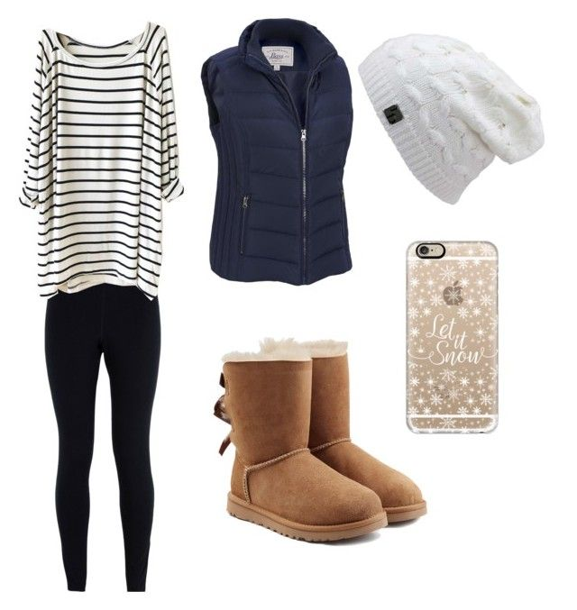 """""""Casual night out after skiing❄️"""" by sportychic33 ❤ liked on Polyvore featuring NIKE, Blanc Noir, G.H. Bass & Co., UGG Australia and Casetify"""