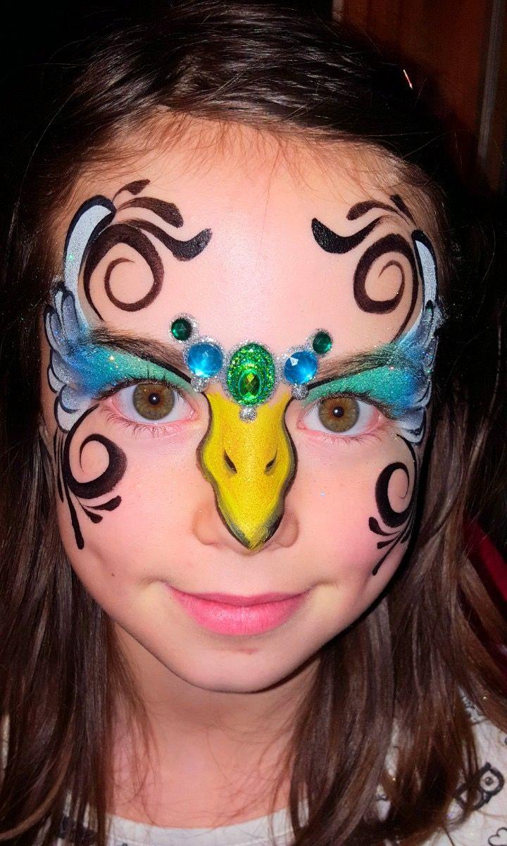 160 besten schminken vogel bilder auf pinterest bemalte gesichter karneval und malen. Black Bedroom Furniture Sets. Home Design Ideas