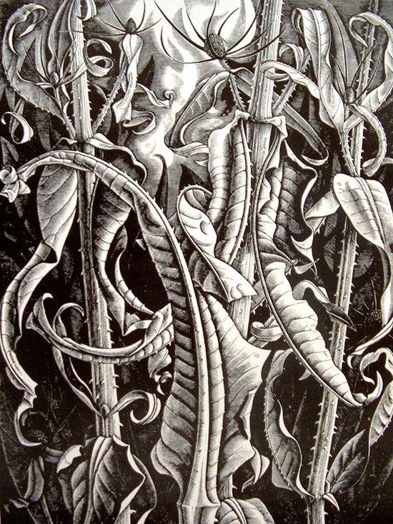 """por Monica Poole.El grabado en madera es una técnica de grabado donde la """"matriz"""" o plancha trabajada por el artista es un bloque de madera. Es una variedad de grabado y así una técnica de impresión en relieve, donde la tinta se aplica a la cara del bloque y se imprime mediante el uso de una presión relativamente baja. Un grabado normal, como un ataque químico, tiene una placa de metal como una matriz y se imprime por el método de huecograbado."""