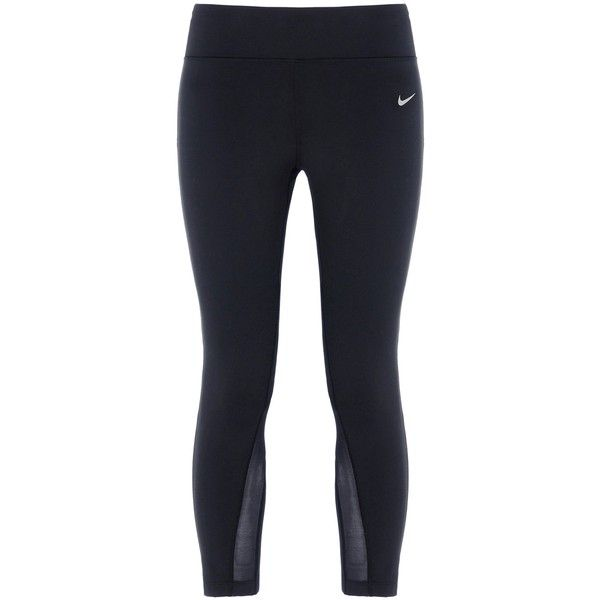 Nike Leggings ($100) liked on Polyvore featuring pants leggings black zip pants nylon ...