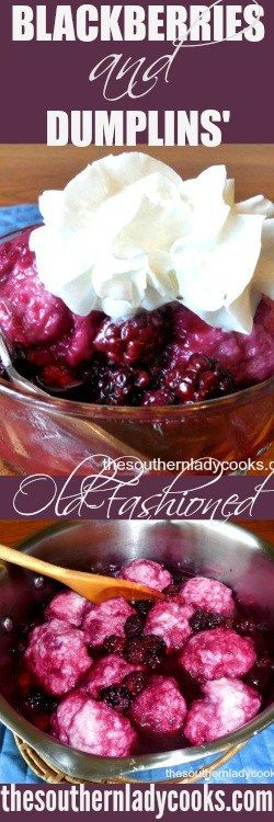 BLACKBERRIES AND DUMPLINGS - The Southern Lady Cooks