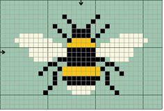 bee cross stitch - Google Search