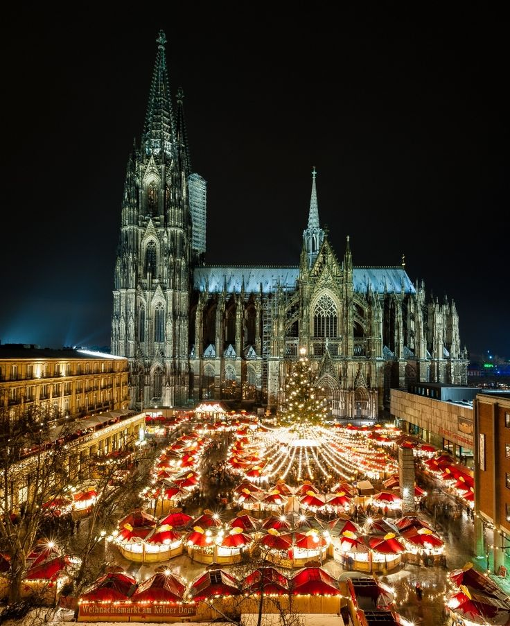 Looking forward to touring Germany at Christmas time to see the Christmas Markets. #Travel - Cologne Christmas Market, Germany