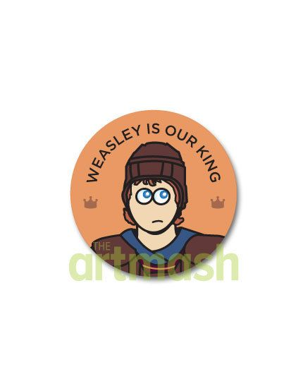 Ron Weasley Button  Weasley Is Our King by theartmash on Etsy, $1.50