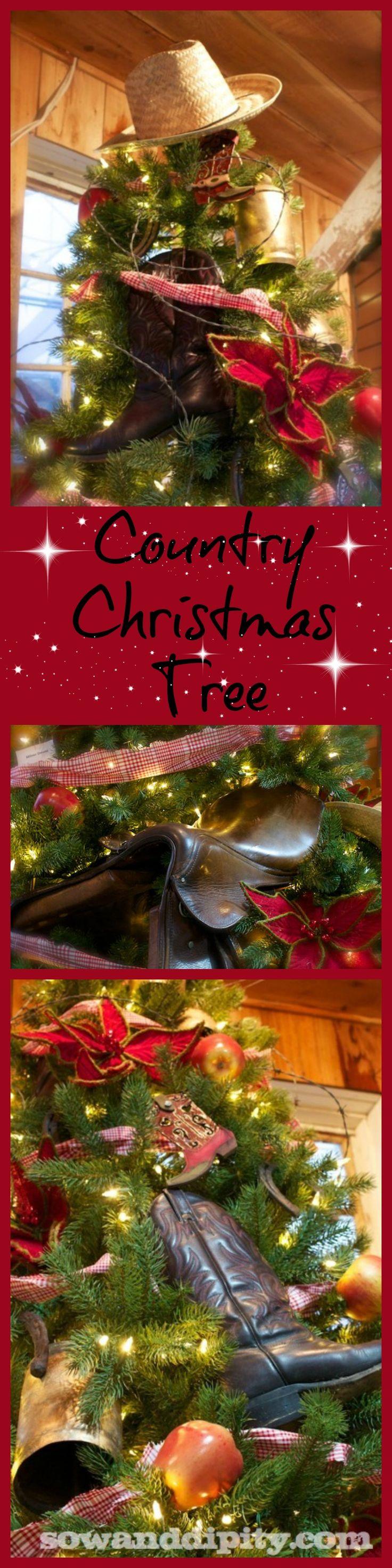 Country Christmas Tree #christmastree