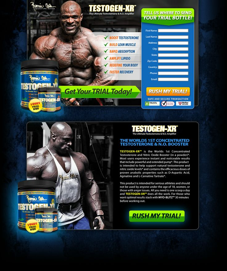 Testogen-XR® is part of Ronnie Coleman's new Signature Series range of supplements. Ronnie Coleman is an American professional bodybuilder who holds the record of eight straight wins as Mr. Olympia. Alongside his eight Mr. Olympia wins as a professional bodybuilder. Testogen-XR® is the testosterone booster of Ronnie Coleman's Signature Series.  Property of Ronnie Coleman Signature Series®