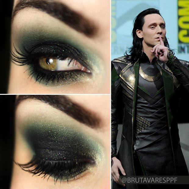 Tutorial – maquiagem com verde e preto inspirada no Loki! Se vc quer um look rock n roll!