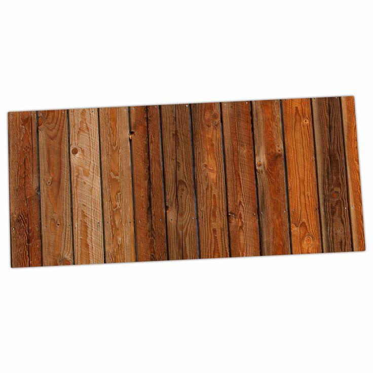 """Susan Sanders """"Rustic Wood Wall"""" Nature Brown Desk Mat"""
