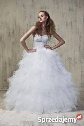 Znalezione obrazy dla zapytania suknie ślubne princessa