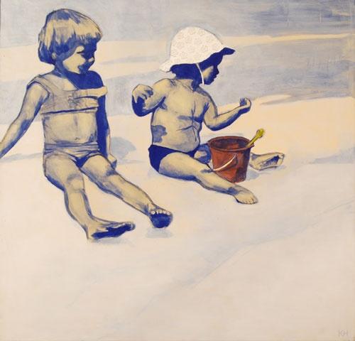 Karin Hoogesteeger - Zusje - Schilderij / Painting