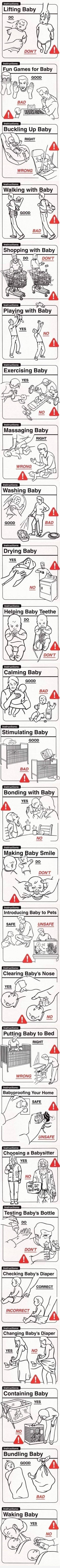 Für unerfahrene Väter...