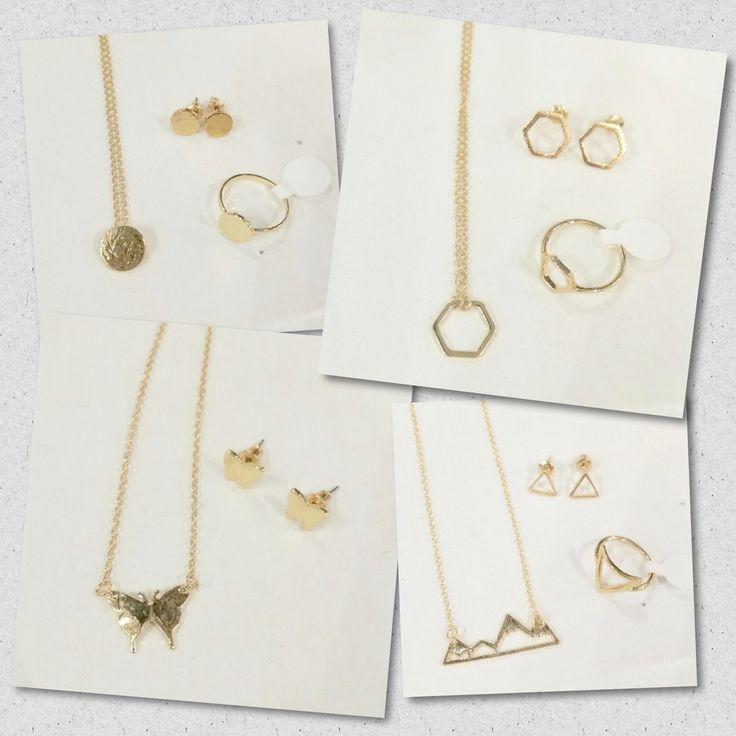 Minimalist jewellery.  Geometric shapes. https://www.facebook.com/kleeboutique/