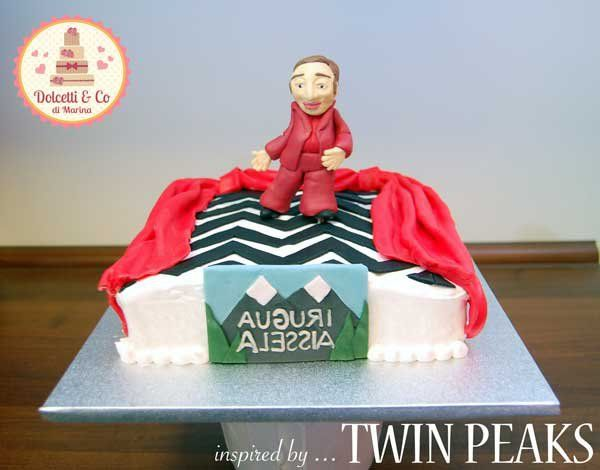 Torta Twin Peaks - Twin Peaks Cake: the man from another Place - Torta Picos Gemelos