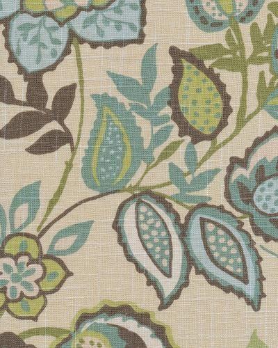 Jayda Bramble fabric for window treatments and cushion for window seat