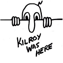 Please help me bring Kilroy, a grafitti character from WWII, back! Please re-pin, and post anywhere you can figure out how to! thanks!!!
