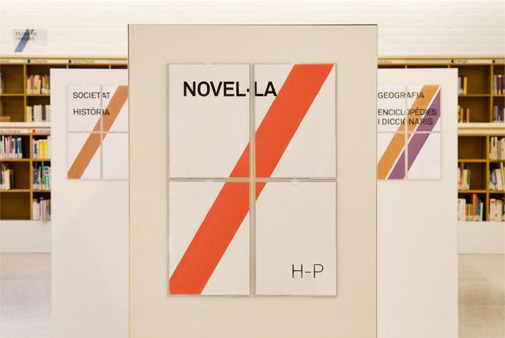 Vicente Aleixandre library signage system | Txell Gràcia | graphic design | Barcelona