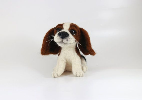 Needle Felted Dog Personalized pet Custom Pet Portrait Miniature Beagle Puppy Needle Felt Art Dog Doll Animal Decor Shelves eco friendly toy