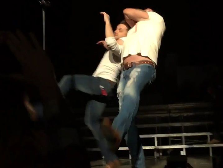 Dallas Diamond Page Does a Diamond Cutter on Justin Moore (VIDEO)