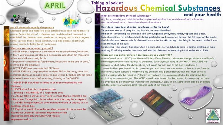 Are you/your employees working with Hazardous Chemicals? Then this might be valuable information for you to read/share.