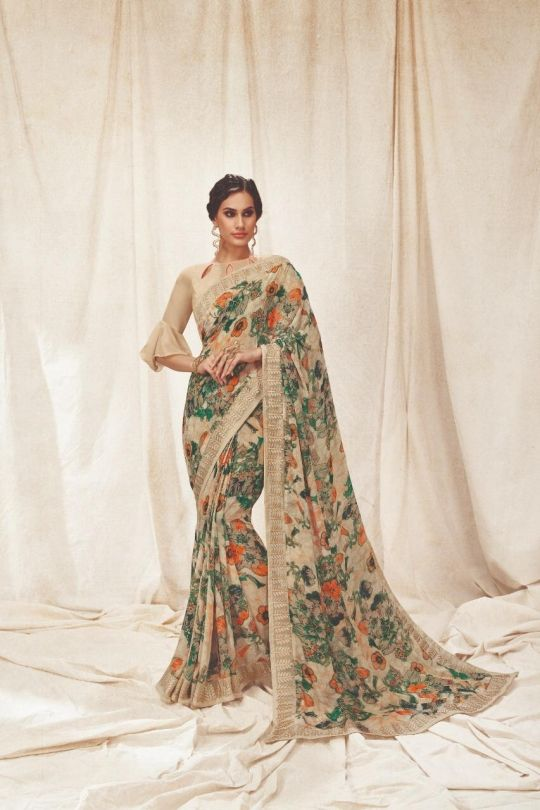 c6c0a5aea5e SHANGRILA SAREE PRESENTS KAMINI VOL 7 PRINTED SAREE MANUFACTURER IN SURAT  (7) Party Wear