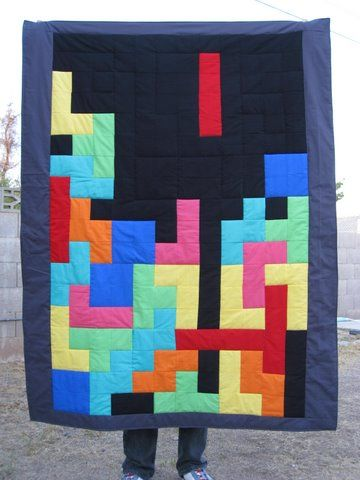 Tetris 2.0 quilt! brilliant