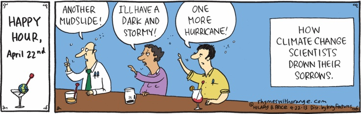 How climate scientists drown their sorrows