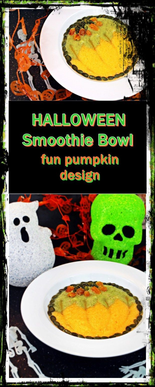 Food faith amp design thanksgiving goodies - Halloween Smoothie Bowl Fun Pumpkin Design Fab Food 4 All