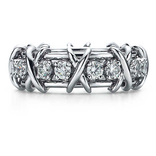 Tiffany & Co. Schlumberger® Sixteen Stone Ring ($9,900) ❤ liked on Polyvore featuring jewelry, rings, stone jewellery, stone rings, tiffany co jewellery, stone jewelry and tiffany co rings