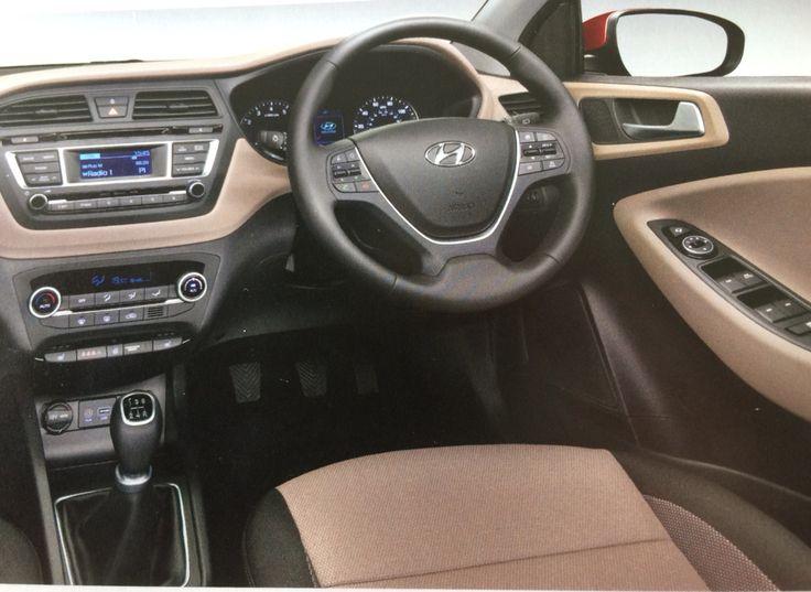 Hyundai i20 premium se interior in elegant beige available with red passion and stardust grey - Hyundai i20 interior ...