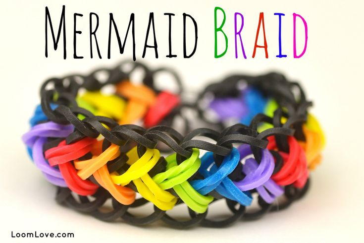Learn how to make Loom Love's Mermaid Braid bracelet. This awesome design only requires two pegs! Also would work on the monstertail or mini loom.