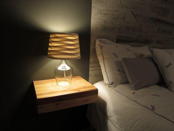 Handmade Floating Shelf with Hidden Drawer by SplintersCustomWood