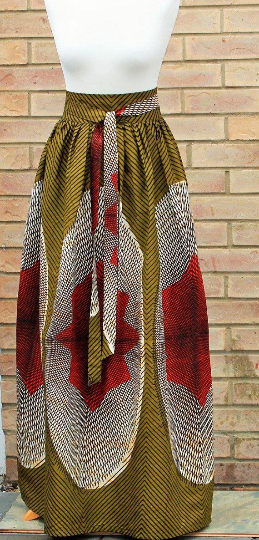 African print high waist skirt Ankara print skirt by AbrefiFashion