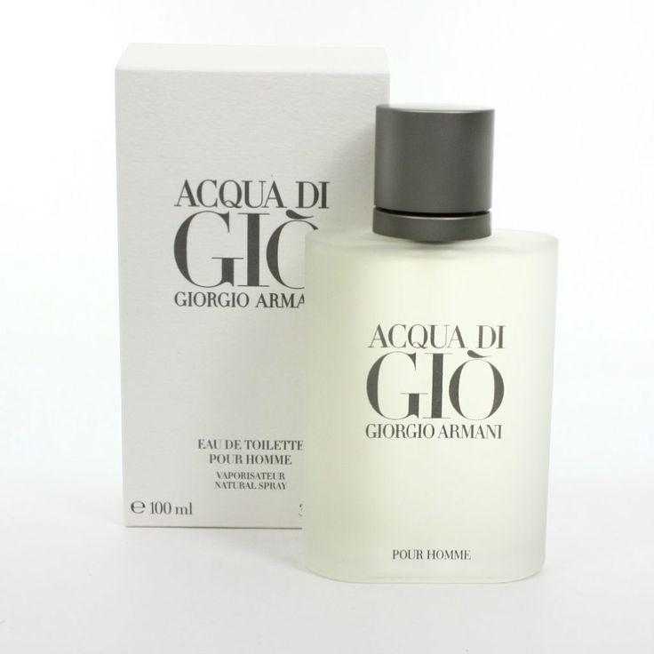 5 colonias solo para hombres alfa perfume fragancia para hombre acqua di gio de giorgio armani. men's fragrance caja de perfume blanca y botella blanca de perfume.