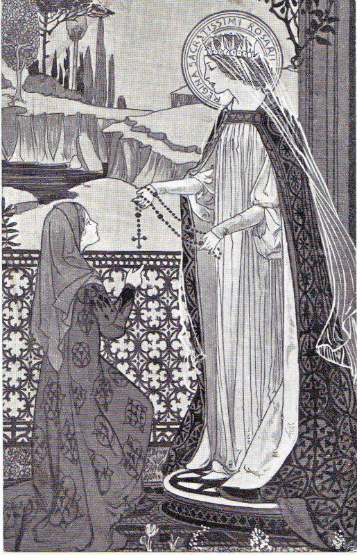 Ezio Anichini serie Immagini sacre - 36. Regína sacratíssimi Rosárii
