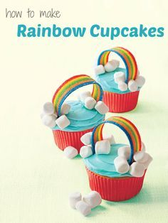 Easy cupcake recipes: How to make Rainbow Cupcakes for spring