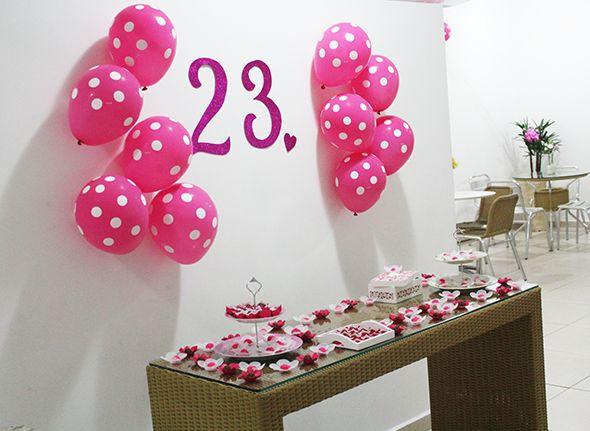Idéias para decoraç u00e3o de aniversário Fezoka Aniversário simples Decoracion de cumpleaños  -> Decoração De Festas Com Xícaras