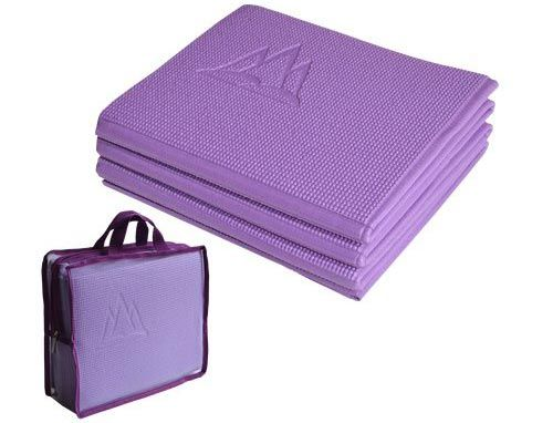 Most yoga mats aren't suitable for travelling since they don't fit into a suitcase even when tightly rolled. The Khataland YoFoMat is best travel yoga mat.