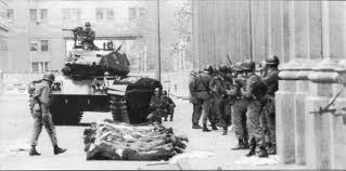 Iconic image from the 1973 military coup in Chile