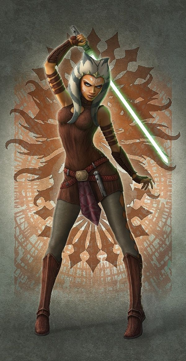 I need to know what happens to Ahsoka after Order 66.  Surely the canon wouldn't kill her off after so much character development.  Surely.  Hopefully?.... anyway this is good art.